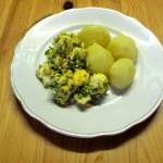 Grüner Eiersalat mit Salzkartoffeln