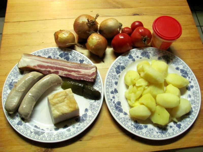 Kartoffelsuppe mit Würstchen