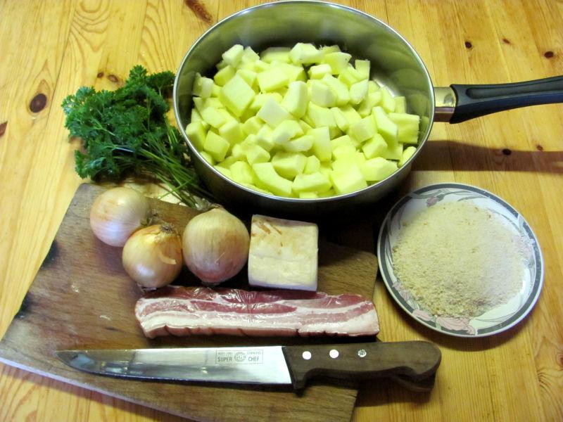 Zucchini Semmelkrume