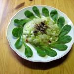 Feldsalat mit Salatgurke