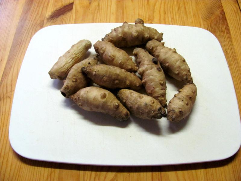 Topinambur püree mit Kartoffeln und Spiegelei
