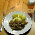 Kartoffeln gelbe Bohnen mit Ingwer und Senf